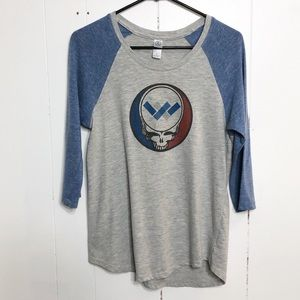 Alternative Clothing Graphic Heather Gray BlueTee